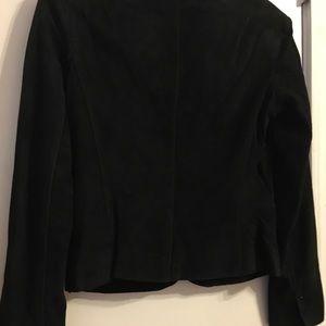 June Jackets & Coats - Black Suede Blazer/Jacket